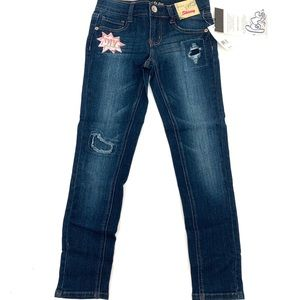 Imperial Star DIY Patch Girl's Skinny Jeans 7 NEW